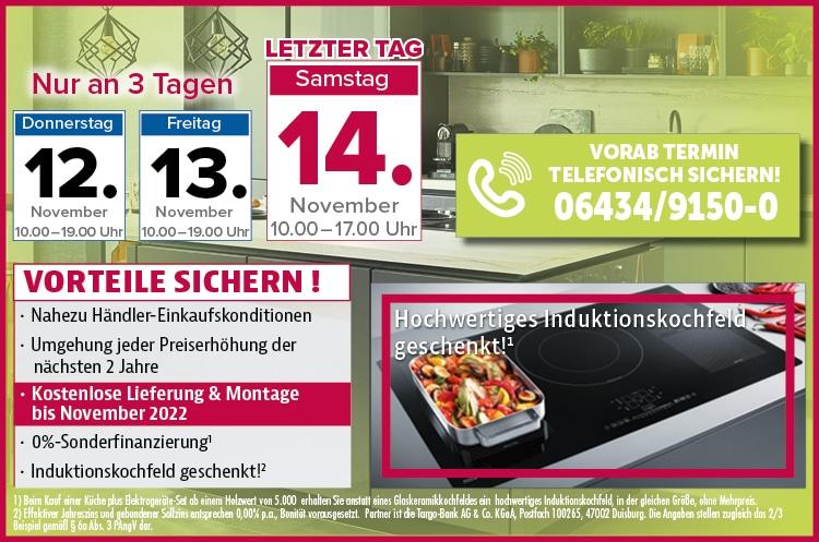 3 Tage exklusiver Küchen-Sonderverkauf - jetzt Vorteile sichern
