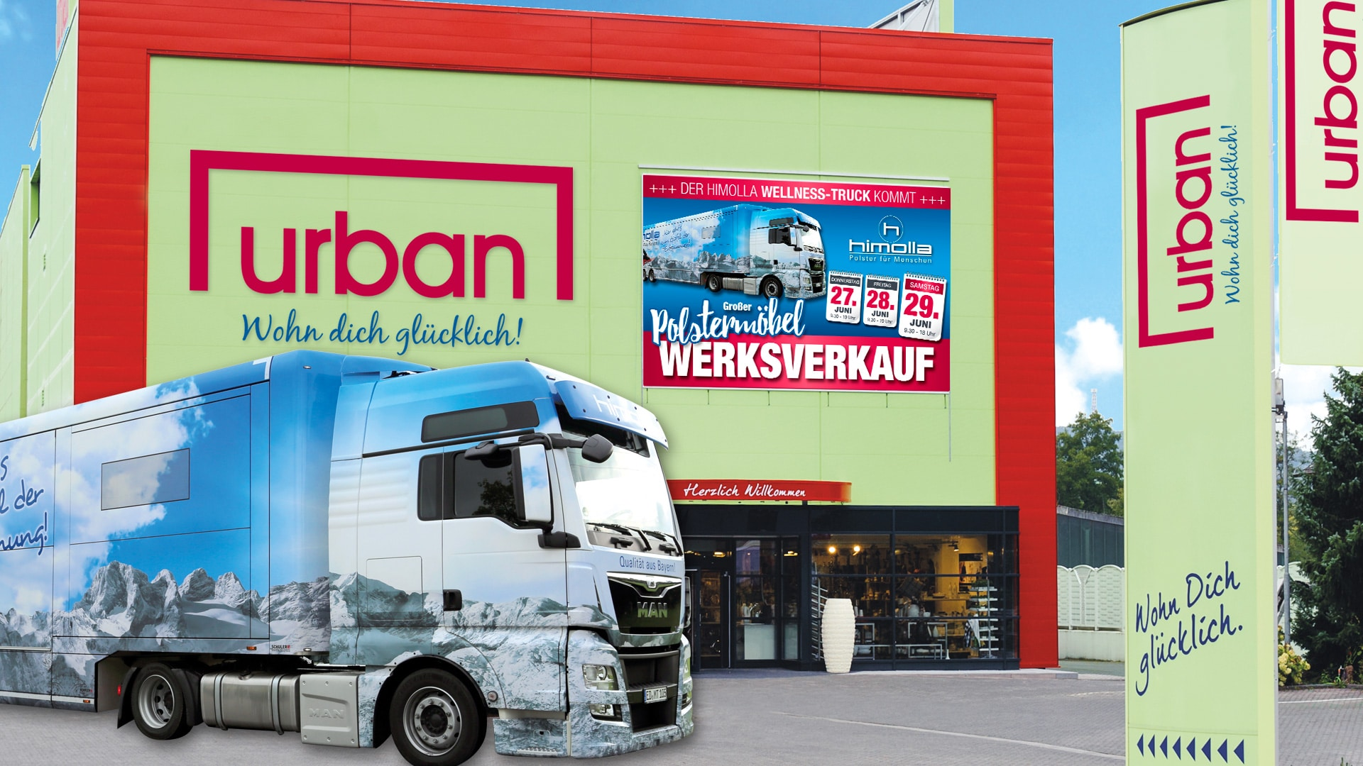 Der Himolla Truck Kommt Zu Mobel Urban